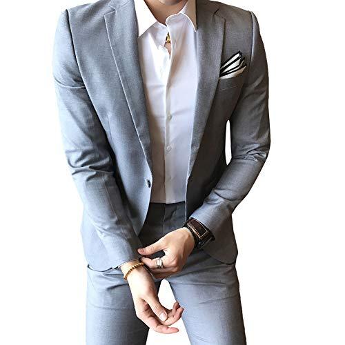 Allthemen Hochzeitsanzug Herren Anzug Slim Fit Herrenanzug Anzüge für Hochzeit Business Party - 4