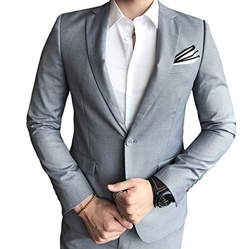 Allthemen Hochzeitsanzug Herren Anzug Slim Fit Herrenanzug Anzüge für Hochzeit Business Party - 5