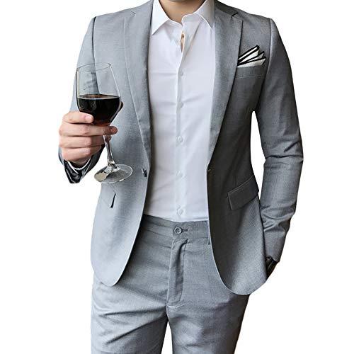 Allthemen Hochzeitsanzug Herren Anzug Slim Fit Herrenanzug Anzüge für Hochzeit Business Party - 6