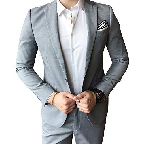 Allthemen Hochzeitsanzug Herren Anzug Slim Fit Herrenanzug Anzüge für Hochzeit Business Party - 7