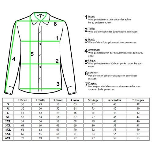 Rusty Neal Herren Hemd mit Weste Krawatte Anzugs Sakko Business Hochzeit Freizeit Hemden Set wählbar RN-44-HWK, Größe:L, Farbe:Braun - 2
