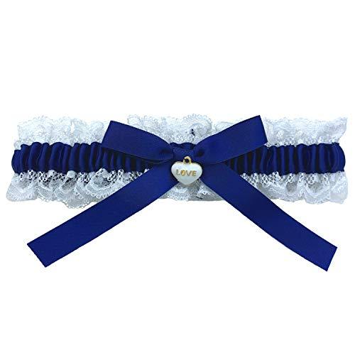 Blau Weisses Strumpfband für Hochzeit