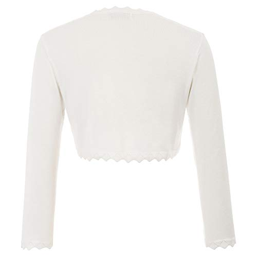 GRACE KARIN Damen Cropped Knit Bolero für Kleid Open Front Kurz Strickjacke Elegant Cardigan M CL960-2 - 2
