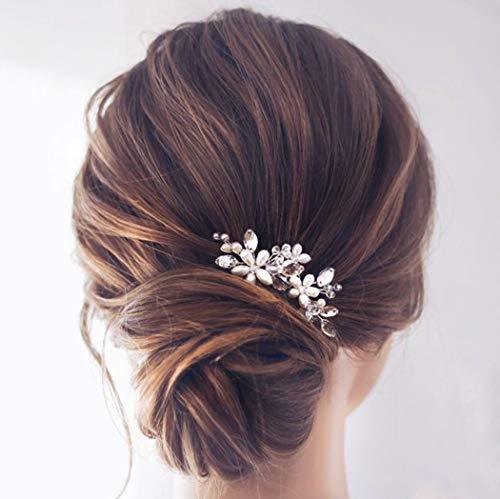 Hochzeit Haarnadeln Silber Haarspangen (Silber)