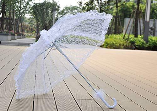 Zerodis Sonnenschirm Spitze Hochzeit Braut Weiß Dame Kostüm Zubehör Party Tanzen Fotografie Prop Dekoration - 8