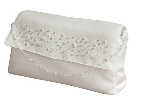 Brauthandtasche mit Perlenkette Ivory Maße ca.20 * 11cm