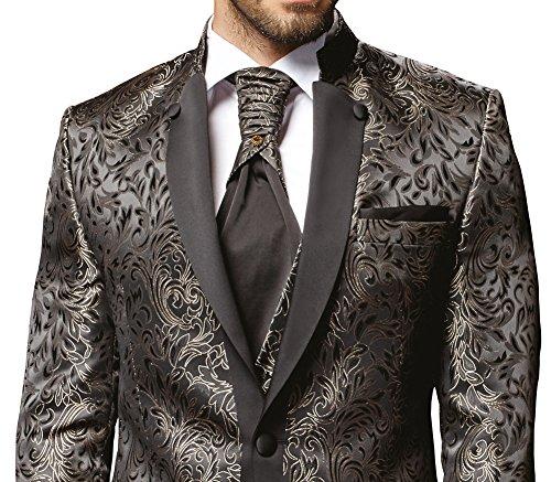 Herren Anzug - 8 teilig - Schwarz Champagner Designer Hochzeitsanzug TOP ANGEBOT NEU PC_19 (50) - 3