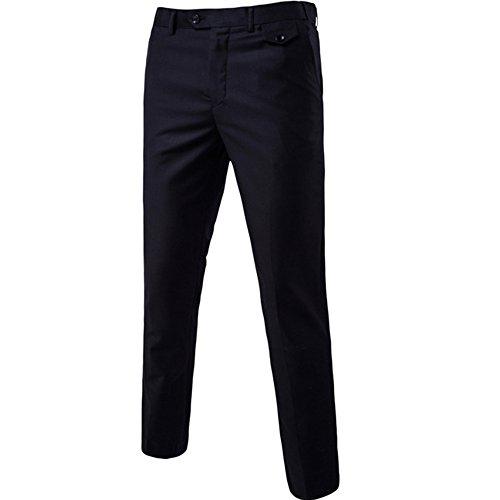 Herren Anzug 3 Teilig Slim Fit 2-Knopf mit Weste Sakko Anzughose Business Smoking Hochzeitsanzug von Harrms,Schwarz,EU 54 - 5