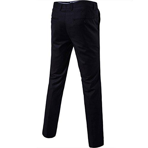 Herren Anzug 3 Teilig Slim Fit 2-Knopf mit Weste Sakko Anzughose Business Smoking Hochzeitsanzug von Harrms,Schwarz,EU 54 - 6