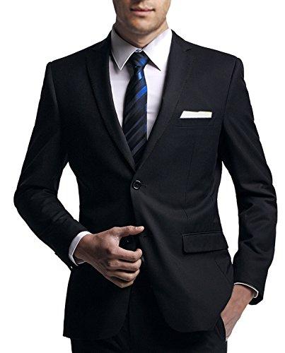 Anzug slim fit, schwarz aus Business Traveller Stoff - deutsche Konfektion