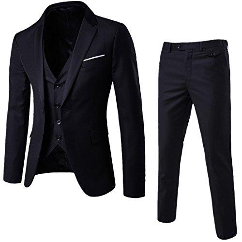 Sunshey Herren Anzug 3-Teilig Slim Fit