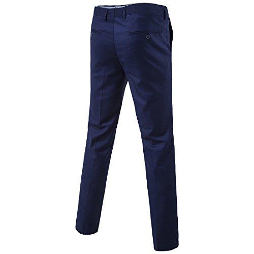 Sunshey Herren Anzug 3-Teilig Slim Fit Anzugsjacke Anzugsweste Anzugshose ein knopf Muster 9 Farben - 3