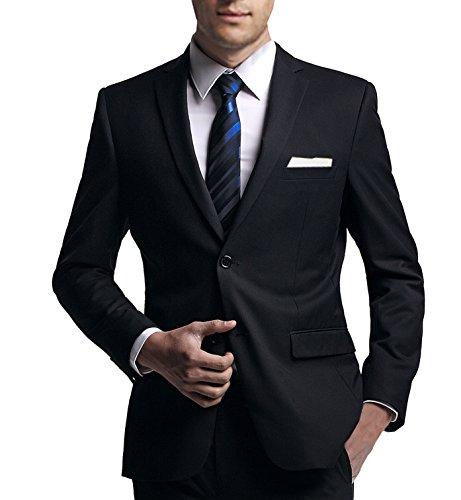 Anzug slim fit, schwarz, aus Business Traveller Stoff/Tuch