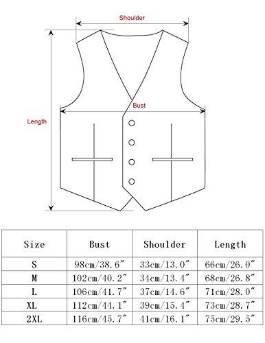 Leisure Herren Anzugweste Gentleman Basic Mode Einreiher Fünf Knöpfe Weste,Blau 1,M - 5