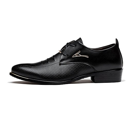 Blivener M?nner Business Lace-up Kleid Schuhe Casual Hochzeit Spitz Zeh Oxfords EU43 - 5