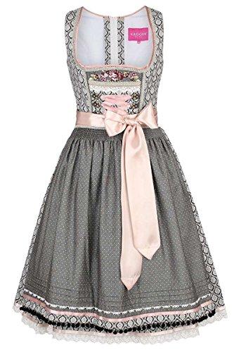 Damen Krüger Madl Dirndl Vintage-Stil schwarz rosa