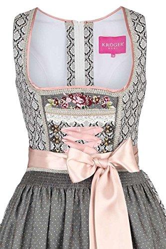 Damen Krüger Madl Dirndl Vintage-Stil schwarz rosa, Schwarz, 40 - 2