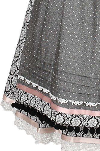 Damen Krüger Madl Dirndl Vintage-Stil schwarz rosa, Schwarz, 40 - 3