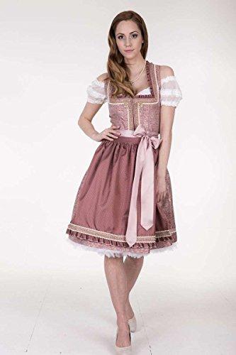 Damen Krüger Madl Dirndl kurz rosé, rosa, 44 - 2
