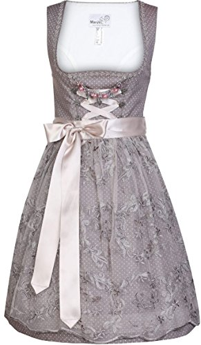 Mini-Dirndl Marrielle in Braun-Rose von MarJo