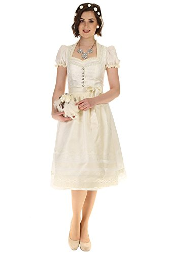 Turi Landhaus Damen Brautdirndl D711080080 Katja Hochzeit 1002champagner - 2