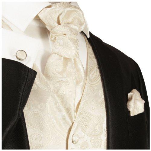 Paul Malone Hochzeitsweste Set 5tlg elfenbein ivory Gr.50 -