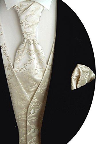 Beytnur Hochzeitsweste mit Plastron, Einstecktuch u. Krawatte Nr. 8.3 Größe 98