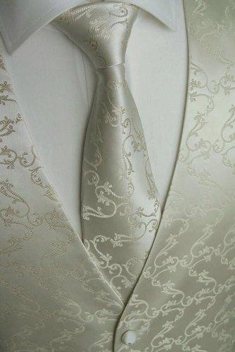 Beytnur Hochzeitsweste mit Plastron, Einstecktuch u. Krawatte Nr. 8.3 Größe 98 -