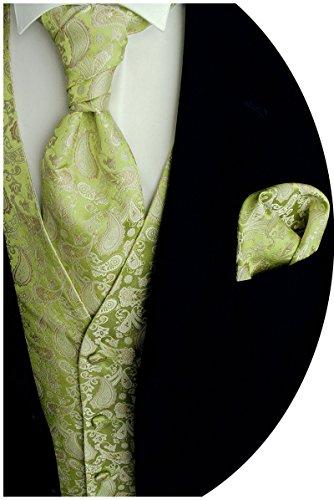 Beytnur Hochzeitsweste mit Plastron, Einstecktuch u. Krawatte Nr.13.4, Größe: 50