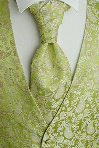Beytnur Hochzeitsweste mit Plastron, Einstecktuch u. Krawatte Nr.13.4, Größe: 50 -