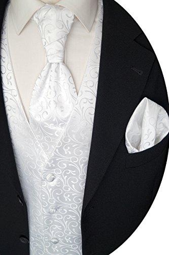 Beytnur Hochzeitsweste mit Plastron, Einstecktuch u. Krawatte Nr. 30.1, Größe 54