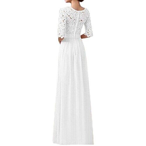 TOOGOO(R) Chiffon Spitze Brautkleid Ballkleid Abendkleid Hochzeitskleid Weiss XXL -