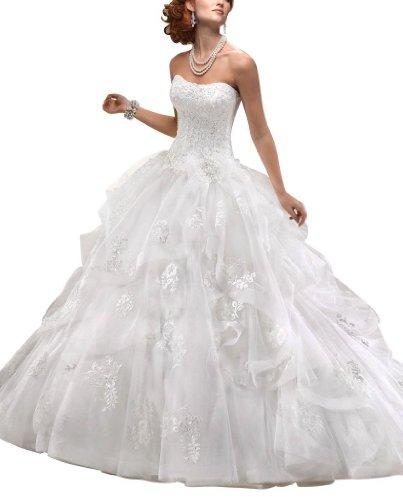 GEORGE BRIDE Duchesse Brautkleid mit Herz-Ausschnitt, Kapelle-Schleppe