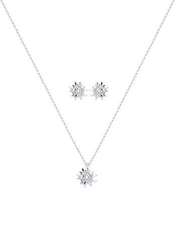 Elli Damen-Schmuckset Halskette + Ohrringe Edelweiss Wiesnschmuck 925 Silber - 0908610515_40 - 2