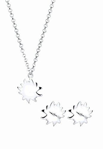 Elli Damen-Schmuckset Halskette + Ohrringe Edelweiss Wiesnschmuck 925 Silber - 0908610515_40 - 4