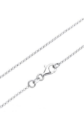 Elli Damen-Schmuckset Halskette + Ohrringe Edelweiss Wiesnschmuck 925 Silber - 0908610515_40 - 5