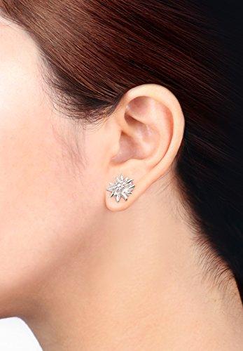 Elli Damen-Schmuckset Halskette + Ohrringe Edelweiss Wiesnschmuck 925 Silber - 0908610515_40 - 6