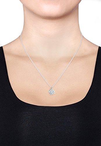 Elli Damen-Schmuckset Halskette + Ohrringe Edelweiss Wiesnschmuck 925 Silber - 0908610515_40 - 7