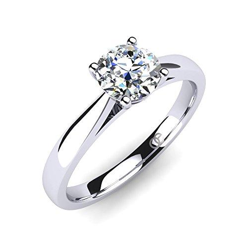Moncoeur Ring 925 Silber Verlobungsring mit Zirkonia + SWAROVSKI