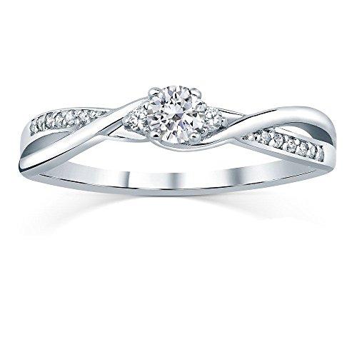 SILVEGO Verlobungsring mit Swarovski® Zirconia 925 Sterling Silber