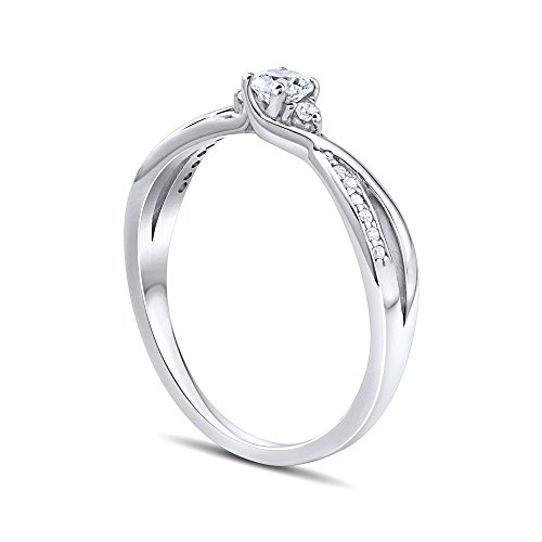 SILVEGO Verlobungsring mit Swarovski® Zirconia 925 Sterling Silber (47 (15.0)) - 2