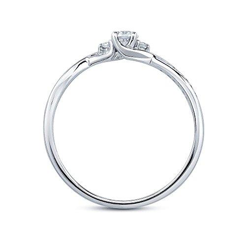 SILVEGO Verlobungsring mit Swarovski® Zirconia 925 Sterling Silber (47 (15.0)) - 3