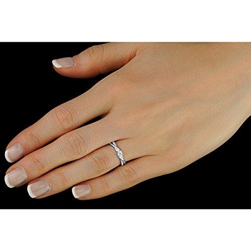 SILVEGO Verlobungsring mit Swarovski® Zirconia 925 Sterling Silber (47 (15.0)) - 4