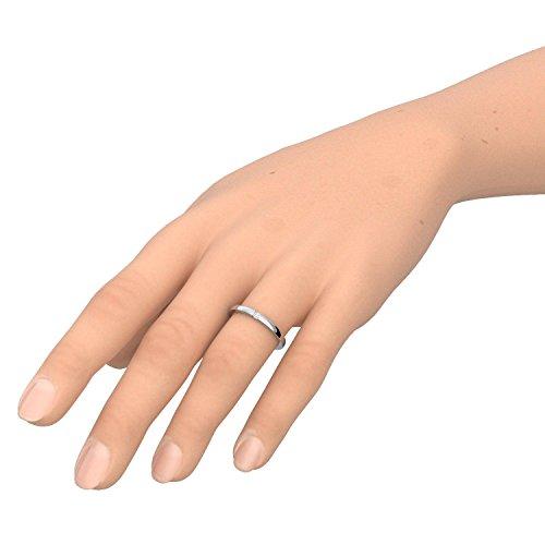 Verlobungsringe Silber 925 ❤️❤️❤️ Spannring von AMOONIC mit SWAROVSKI Zirkonia Stein Silber-Ring Damen-Ring wie Diamant-Ring Weißgold Solitär-Ring Heiratsantrag Antrag AM195SS925ZIFA-7 - 4