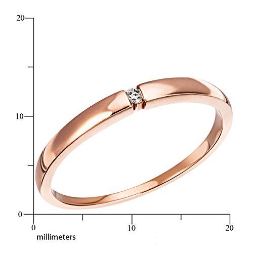 Goldmaid Damen-Ring Solitär Spannfassung - 2