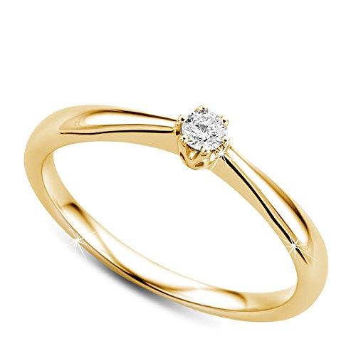 Orovi Verlobungsring Gold, Diamantring 9 Karat (375)