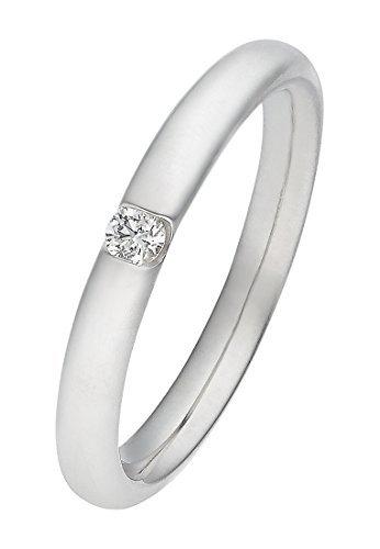 CHRIST Diamonds Damen-Ring 333er Weißgold, 1 Brillanten ca. 0,06 ct