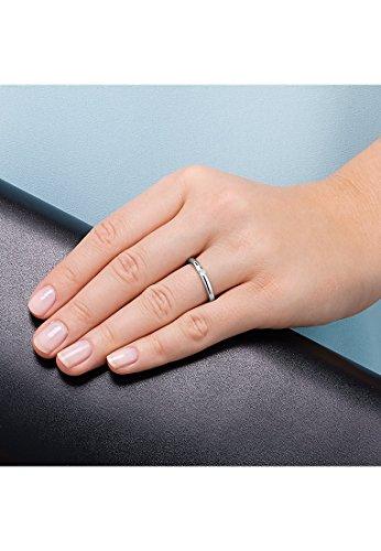 CHRIST Diamonds Damen-Ring 333er Weißgold 1 Brillanten ca. 0,06 ct. weißgold, 54 (17.2) - 2