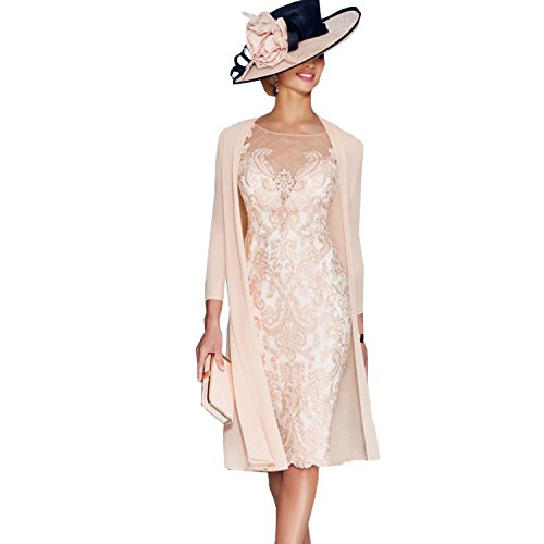 Elegantes Brautkleid aus Rosa Chiffon