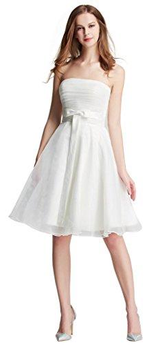 HBH kurzes trägerloses Brautkleid, Ivory